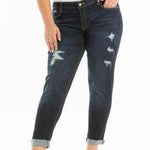 Kancan Dark Distressed Jeans Plus