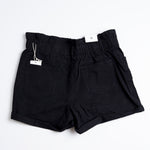 Black Plus Size Paper Bag Shorts