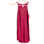 Cabernet Lace Sleeveless Halter Top