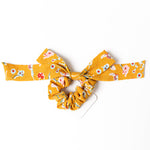 Yellow Floral Scrunchies