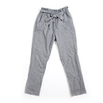 Grey and White Striped Paperbag with Bow Tie Long Pants