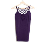 Purple Seamless Criss Cross Cami
