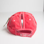 Pink Bad Hair Day Baseball Hat (with ponytail hole)