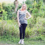 Camouflage Scoop Neck Tank Top