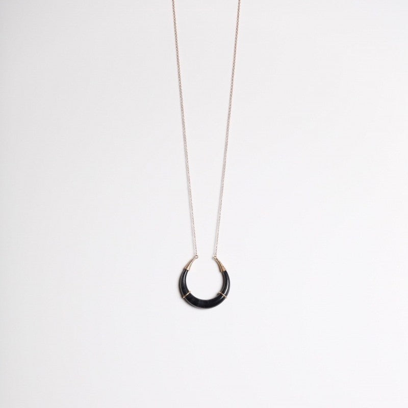 Black Horn Pendant Necklace