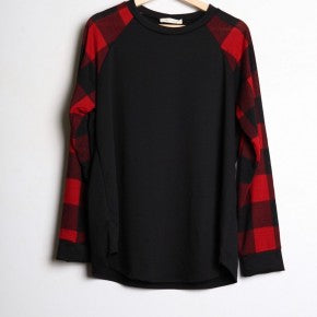 Terry Sweater Plaid