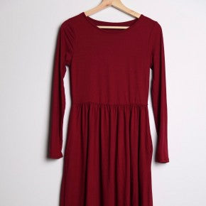 Long Sleeve Midi Dress with pockets