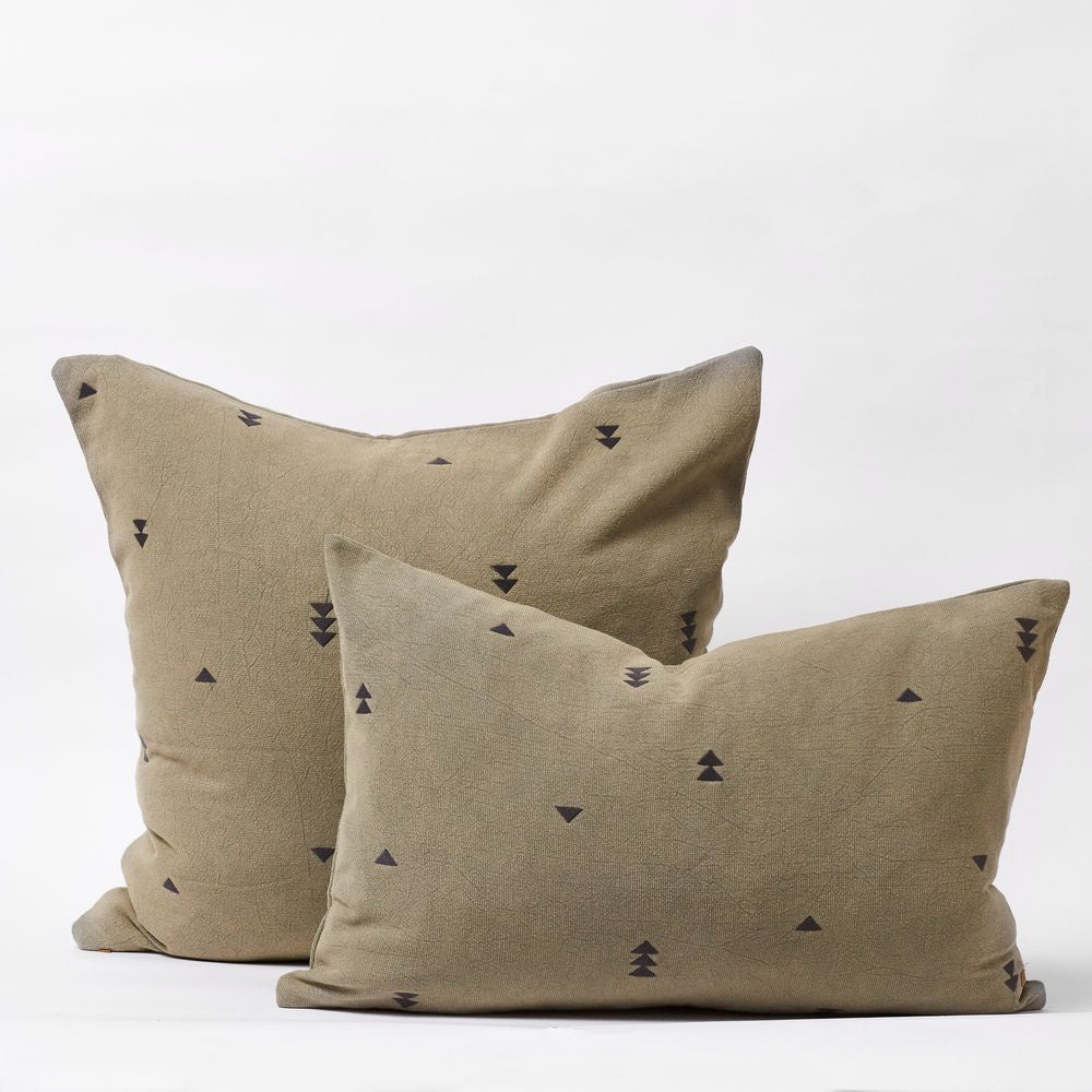 Vintage Wash Cushions - Olive Small  40x60