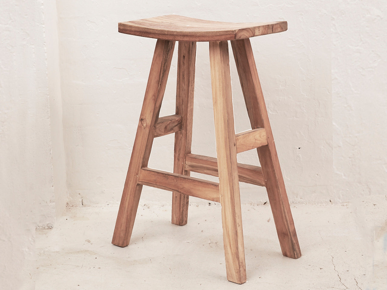 Sena Rustic Finish Bar Stool Tall