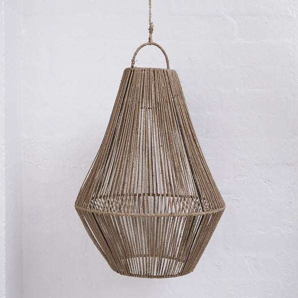 Adi Teardrop Jute Lighting in Natural