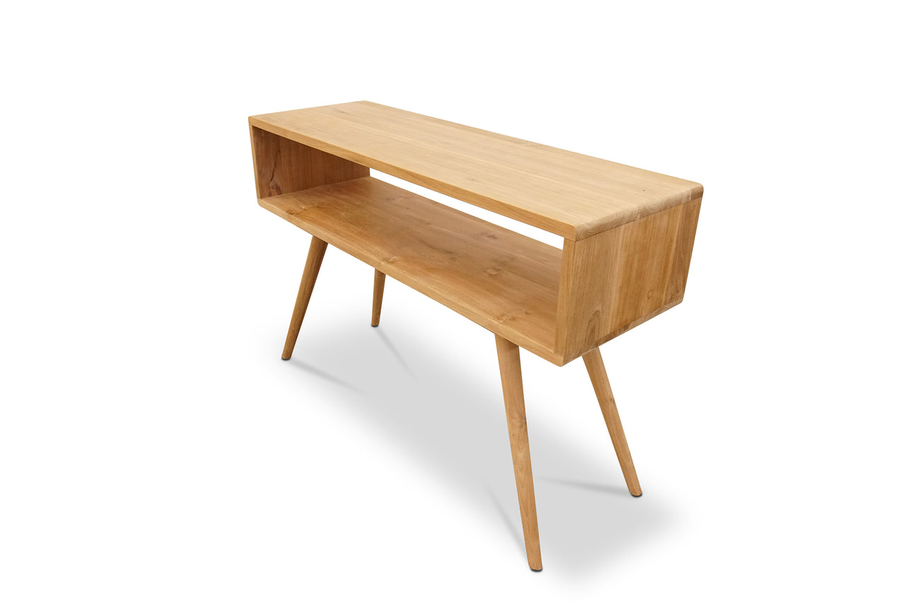 70's smooth teak console