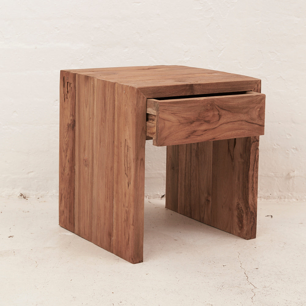Mehdi Bedside Table with Drawer