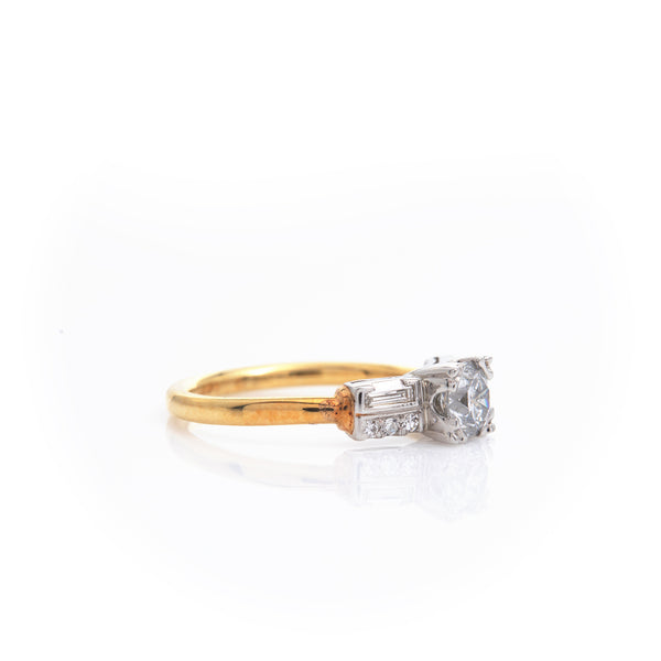 Diamonds in Yellow Gold Ring
