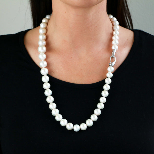 Freshwater Pearls in Sterling Silver Necklace - Sindur