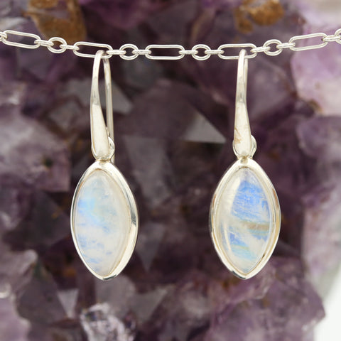 *SOLD* Moonstones in Sterling Silver Earrings - Sindur