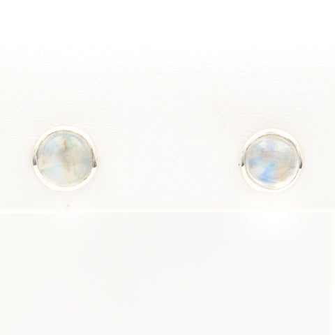 *SOLD* Moonstones in Sterling Silver Stud Earrings - Sindur