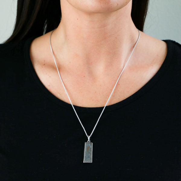Meteorite in Sterling Silver Necklace - Sindur Style