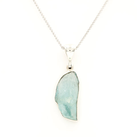 *SOLD* Organic Aquamarine in Sterling Silver Necklace - Sindur