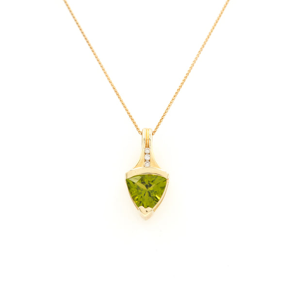 *SOLD*  Peridot in Yellow Gold Necklace - Sindur Style