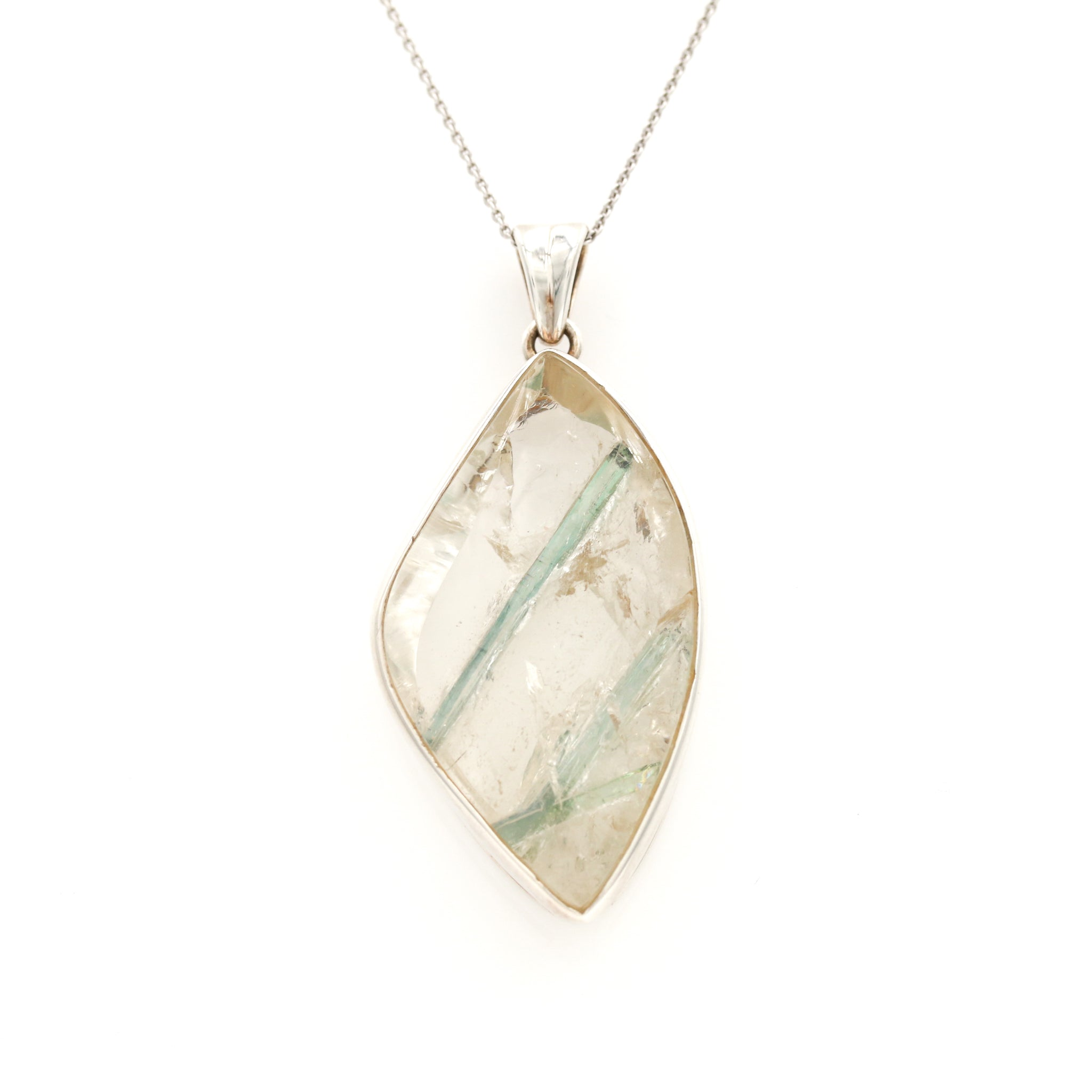 Quartz in Sterling Silver Necklace - Sindur