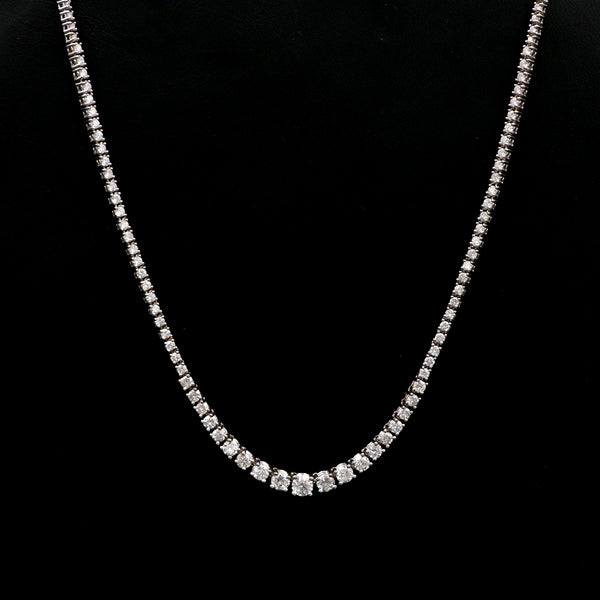 Diamonds in White Gold Riviera Necklace - Sindur Style