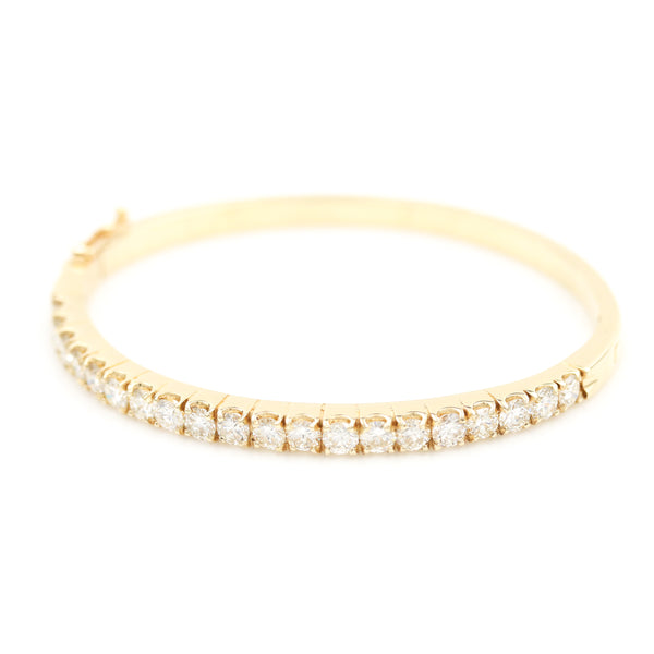 3.00 CTW Diamond Bangle in Yellow Gold - Sindur