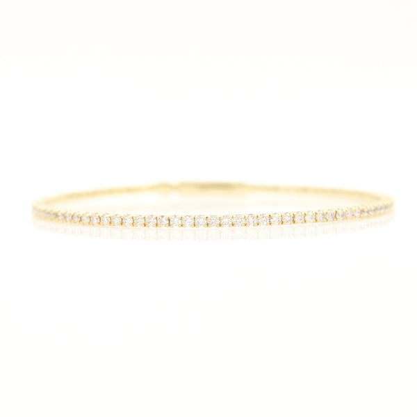Flexible Diamond Bangle in Yellow Gold - Sindur