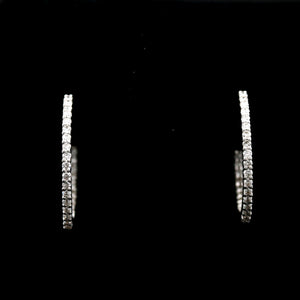 *SOLD* Diamonds in White Gold Inside Out Hoop Earrings - Sindur Style