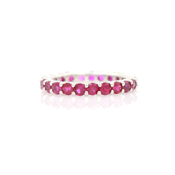 Ruby Eternity Band in White Gold - Sindur Style