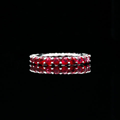 Ruby Eternity Band in White Gold - Sindur