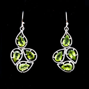 Peridot in Sterling Silver Earrings