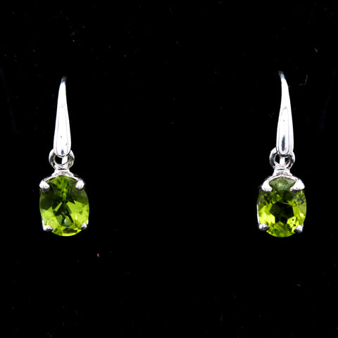 *SOLD* Peridot Drops in Sterling Silver Earrings