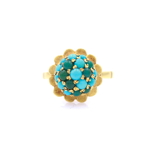 Turquoise in Vintage Yellow Gold Ring