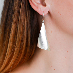 *SOLD* Sterling Silver Sail Earrings - Sindur