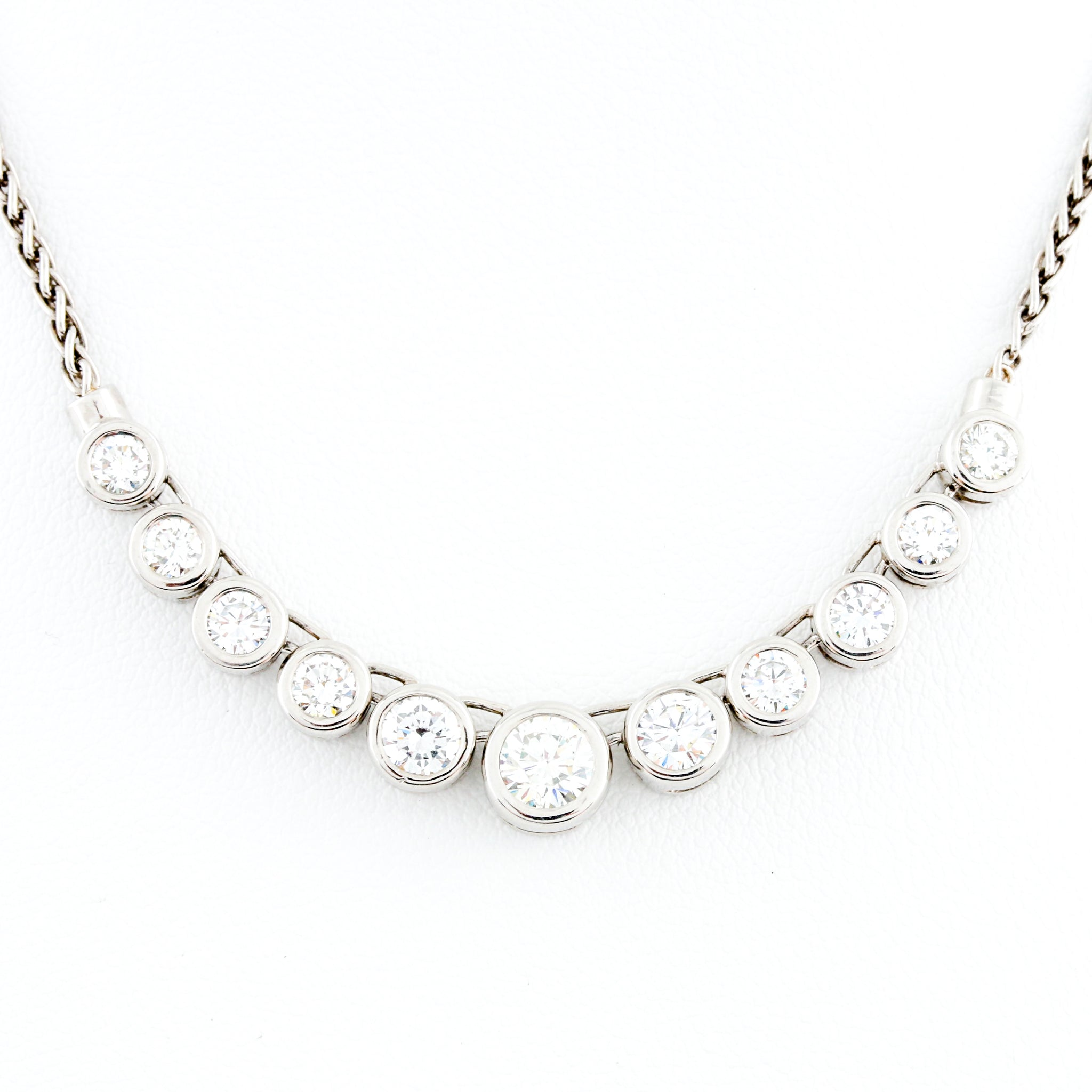 *SOLD* Diamonds in Platinum Necklace - Sindur Style