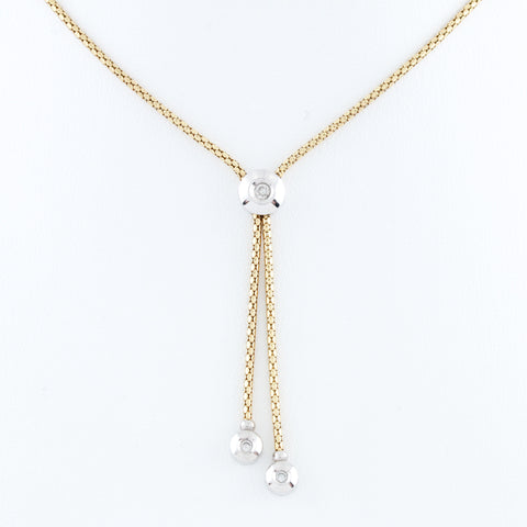 Diamonds in Two Tone Gold Necklace