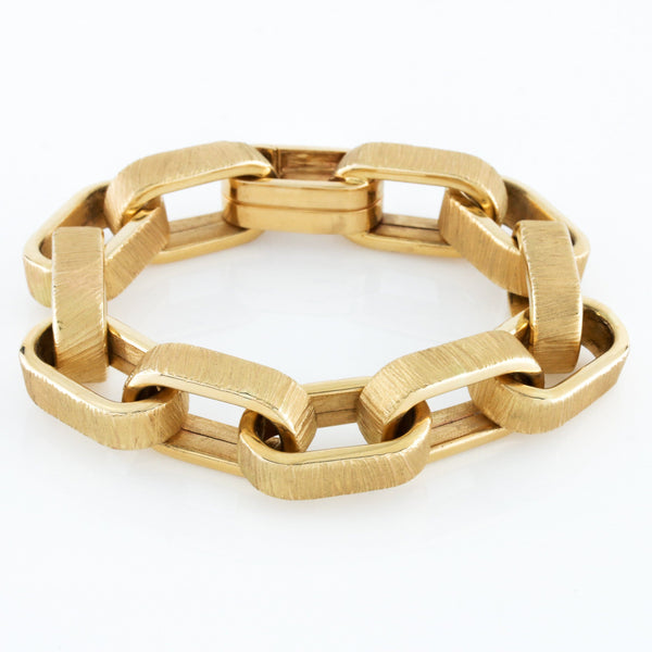 *SOLD* Yellow Gold Oversized Square Open Link Bracelet - Sindur