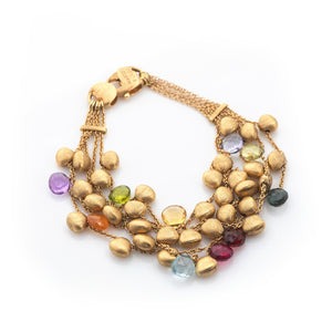 Marco Bicego Gemstones in 18k Yellow Gold Bracelet