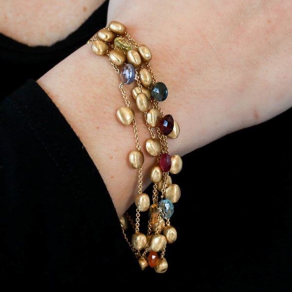 *SOLD* Marco Bicego Gemstones in 18k Yellow Gold Bracelet - Sindur Style
