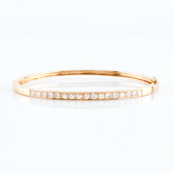 *SOLD* Yellow Gold Diamond Bangle - Sindur Style