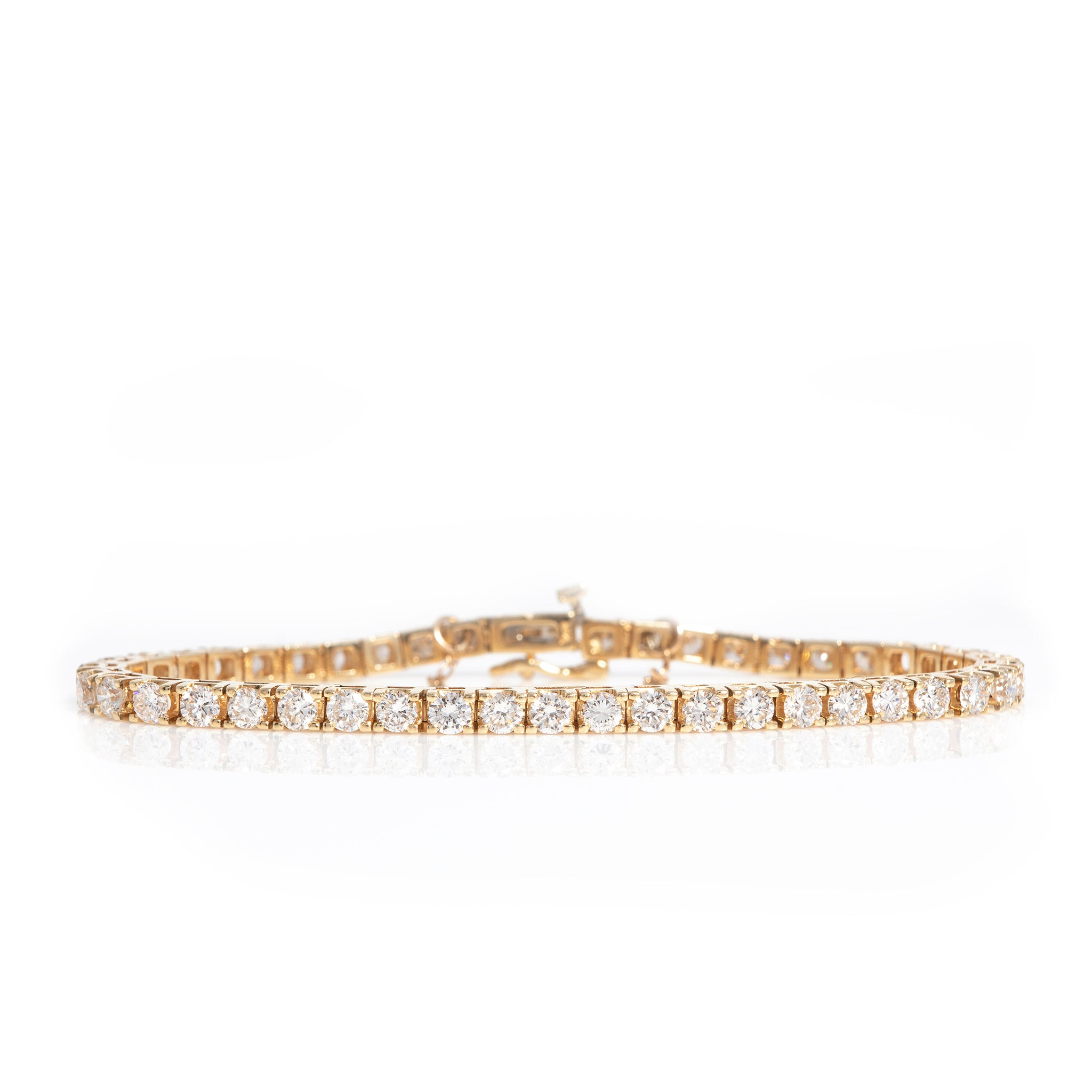 *SOLD* Five Carat Diamond Tennis Bracelet in Yellow Gold - Sindur