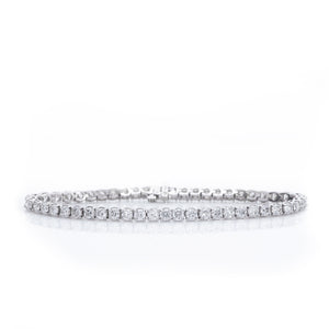Six Carat Diamond Tennis Bracelet in White Gold