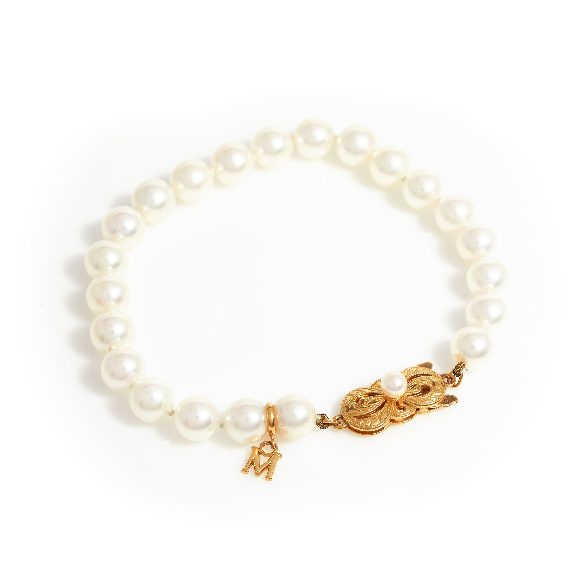 *SOLD*Mikimoto Pearl and Yellow Gold Bracelet - Sindur