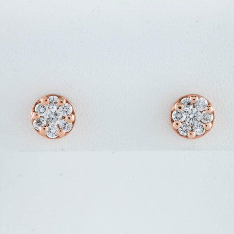 Diamonds in Rose Gold Stud Earrings