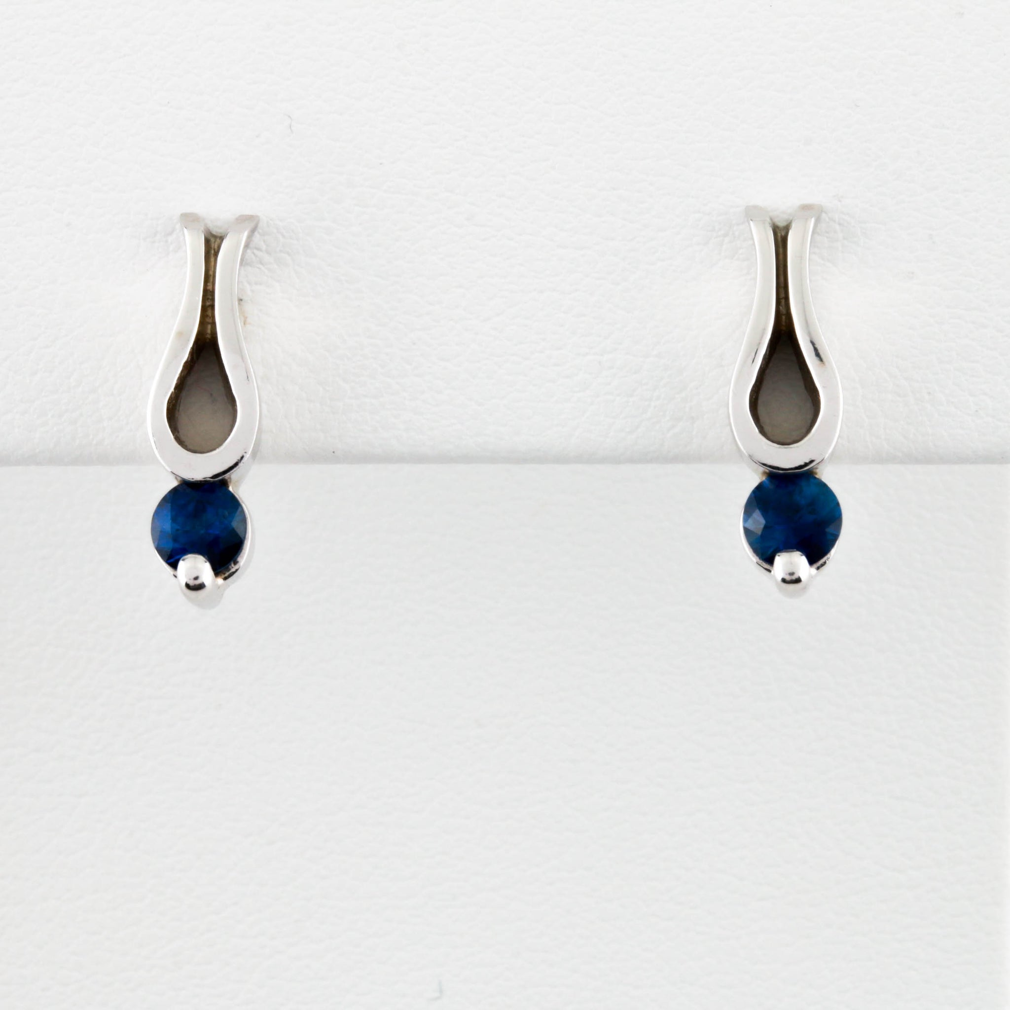 *SOLD* Sapphires in White Gold Earrings - Sindur