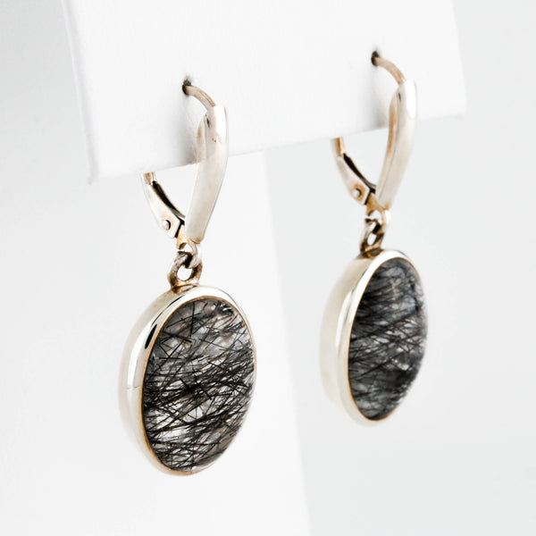 Rutile Quartz in Sterling Silver Earrings