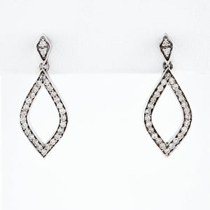 *SOLD* White Gold Marquise Drop Earrings with Diamonds