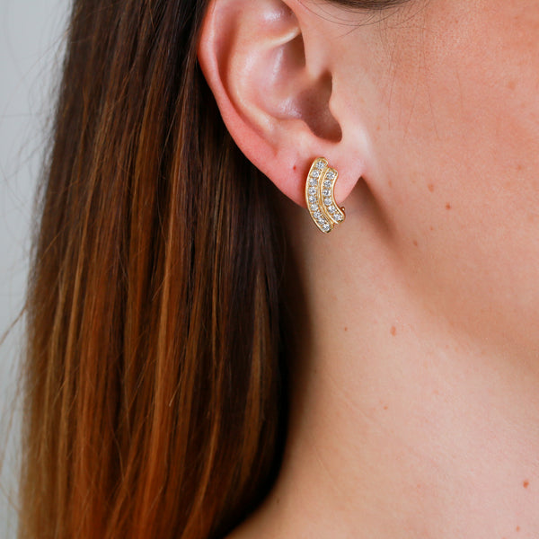 Diamonds in Yellow Gold Earrings