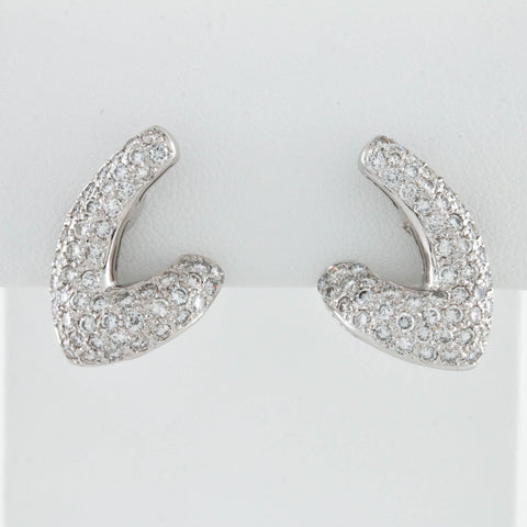 Pavé Set Diamonds in White Gold