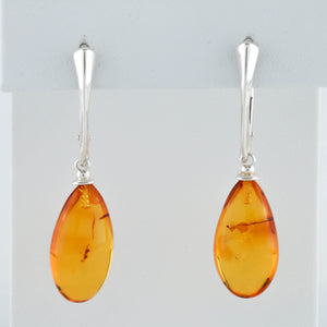 Baltic Amber in Sterling Silver Earrings - Sindur